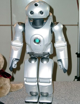 The Japanese electronics giant also developed a two-foot tall humanoid robot called Qrio (pictured)
