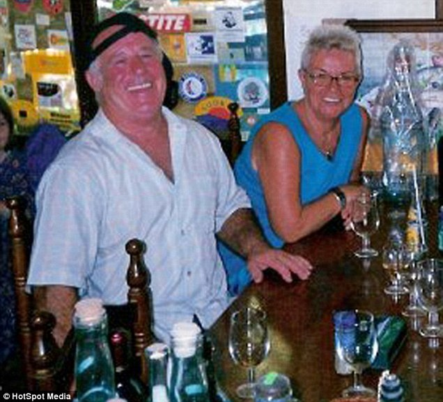 Murdered: The British couple, both 77, were found in each other's arms on their sofa in March last year at their home in Xalo near Benidorm. Both were killed by a single bullet to the head.