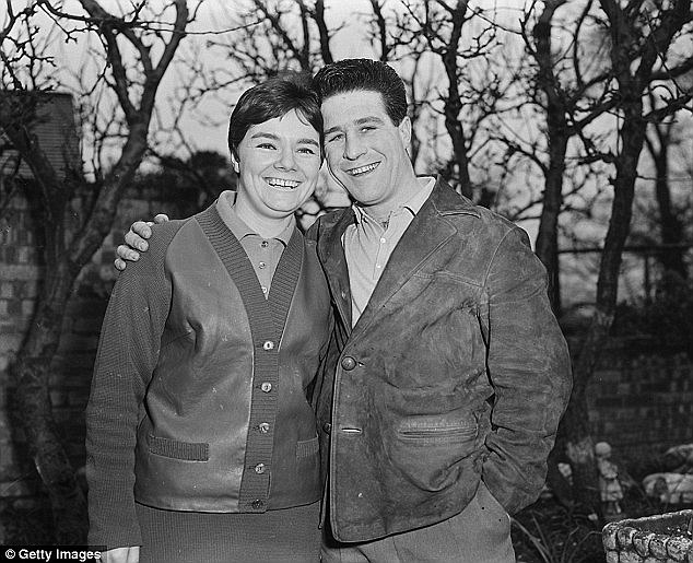 Couple: The pair, pictured together the day before they married in February 1960, met at a local diving club