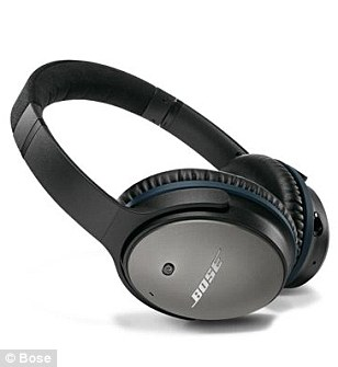 Bose's QuietComfort 25 over-ear headphones offer superb sound and cushioning, and they fold up to a quarter of their size