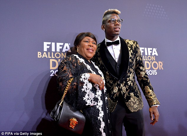 Pogba poses with him at the Ballon d'Or ceremony in Zurich back in January of this year