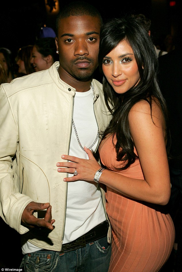 Former flame: The singer and Kim dated in 2003 following the end of her first marriage to music producer Damon Thomas