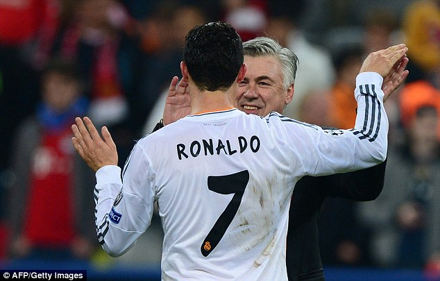 The Italian has revealed that Ronaldo and Bale were so competitive they wanted to beat each other in training