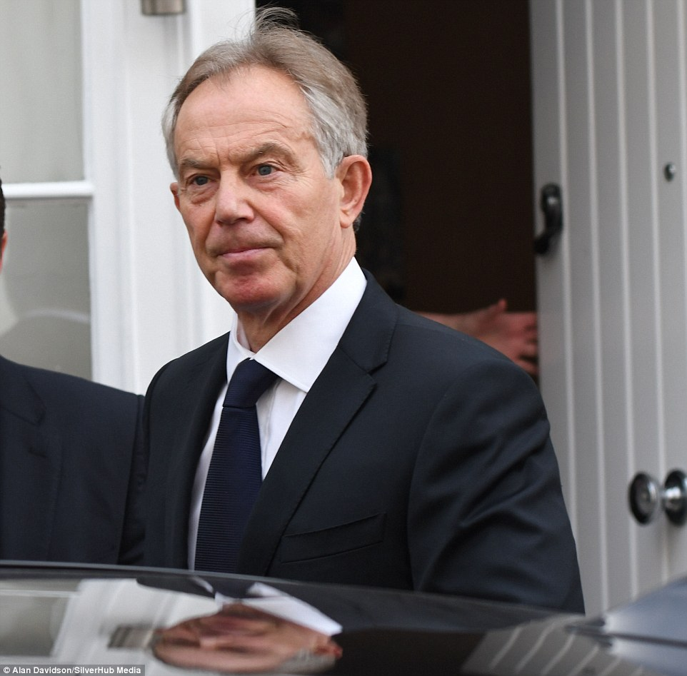 Tony Blair (pictured leaving his house this morning) said he will take 'take full responsibility for any mistakes' made in Iraq but insisted it was 'better to remove Saddam Hussein'