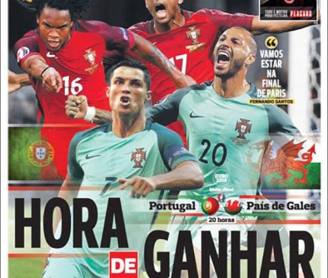 Wales   Portugal Euro  Result Cristiano Ronaldo And Nani