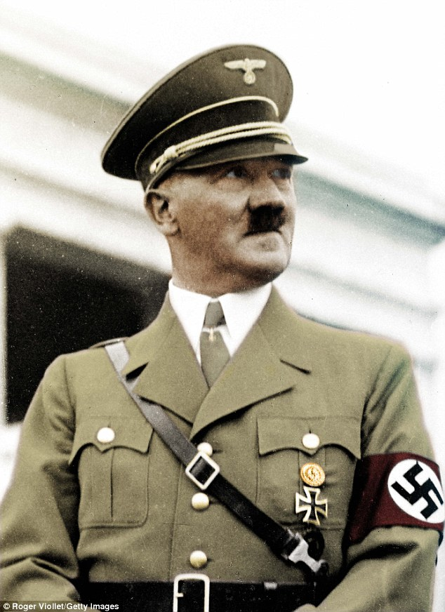 SS General Karl Wolff stated he had been ordered by Hitler (pictured) on September 13, 1943 to kidnap the Pope the following year