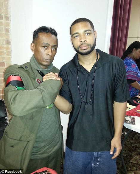 Johnson with Professor Griff of Public Enemy