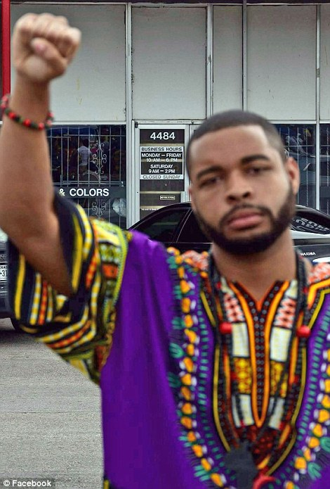 Micah Johnson (pictured) told officers he was upset about recent shootings and wanted to kill whites, 'especially white officers'