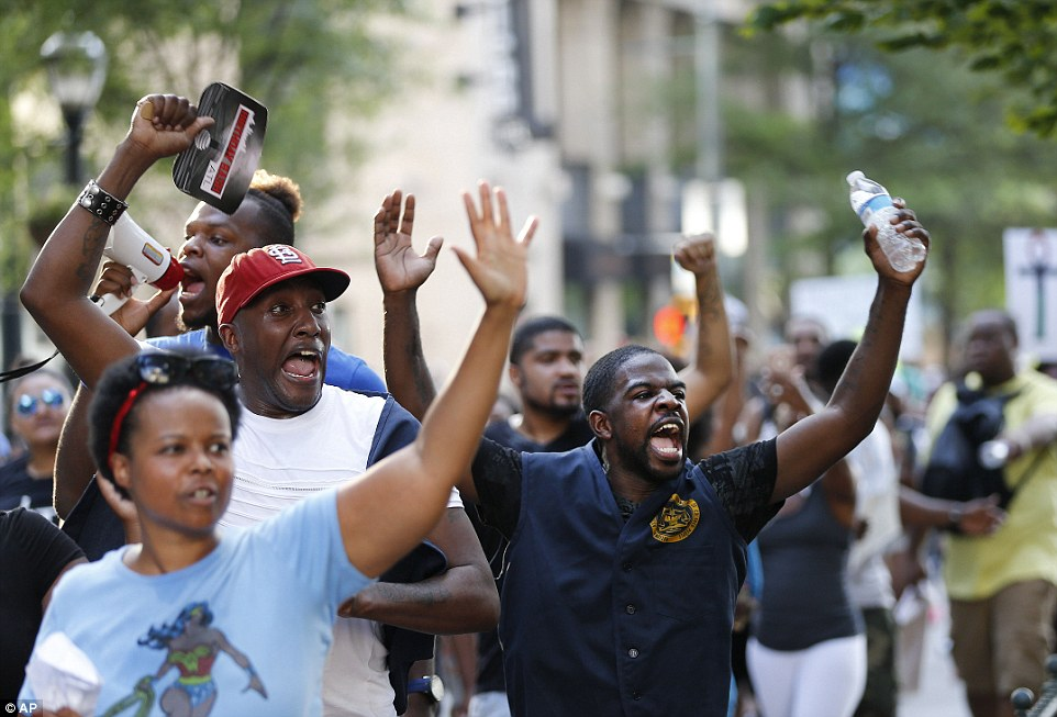 The marches are in response to the recent shootings of black men Alton Sterling and Philando Castile, who were shot by white police officers in Louisiana and Minnesota respectively