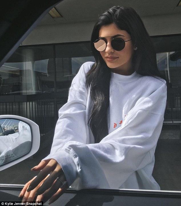 Kylie Jenner Flaunts Diamond Ring On Her Wedding Finger