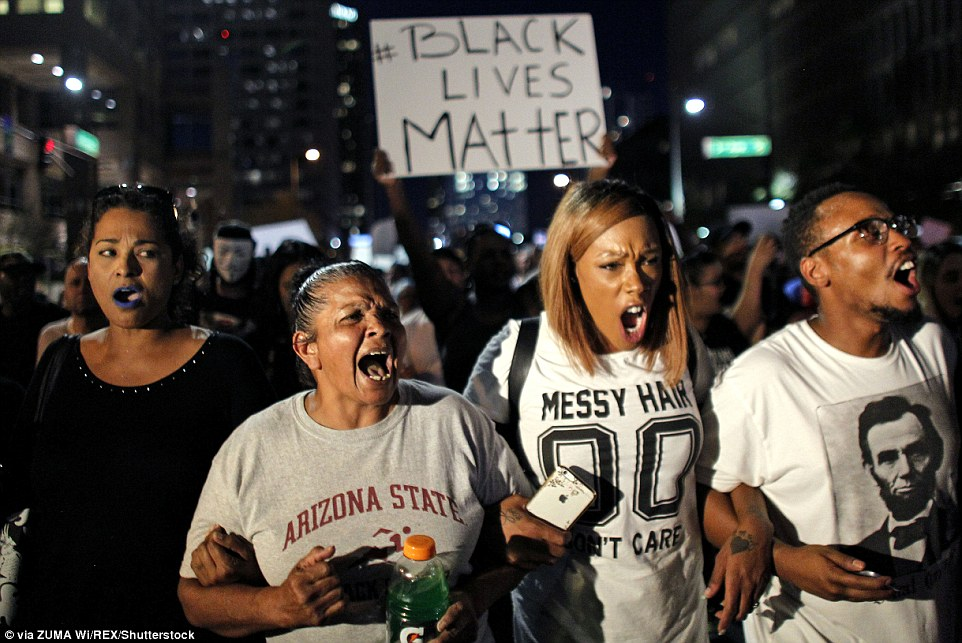 People began gathering outside Phoenix City Hall for the march scheduled at 8pm on Friday. By 10pm, police had begun using pepper spray to control the crowds