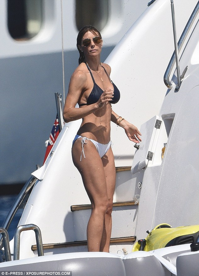 Sylvester Stallones Wife Looks Youthful In Bikini As They