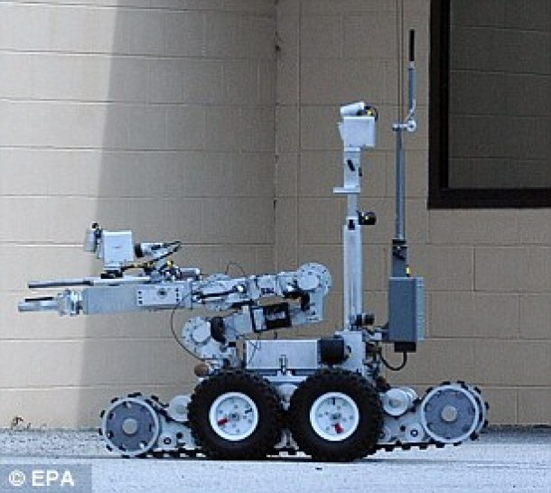 A mechanical tactical robot similar to the one used to kill Micah Johnson