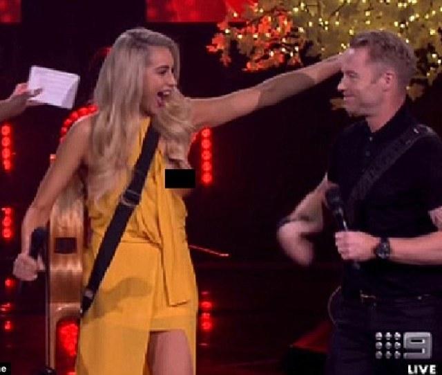 Laughing It Off The Voice Australias Tash Lockhart Admits The Nip Slip Incident On The