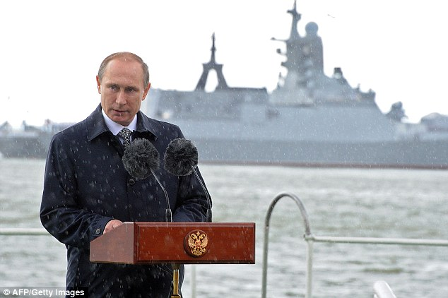 Russian president Vladimir Putin who has sacked 50 officers including the head of Russia's Baltic fleet