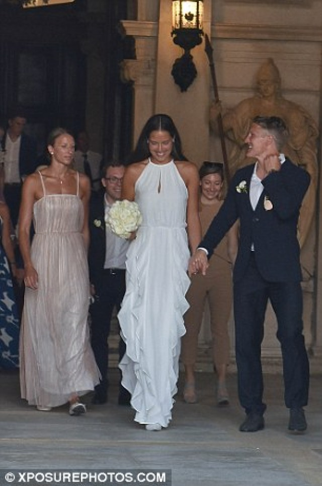 Germany captain Schweinsteiger and tennis ace Ivanovic held their wedding service at Venice City Hall