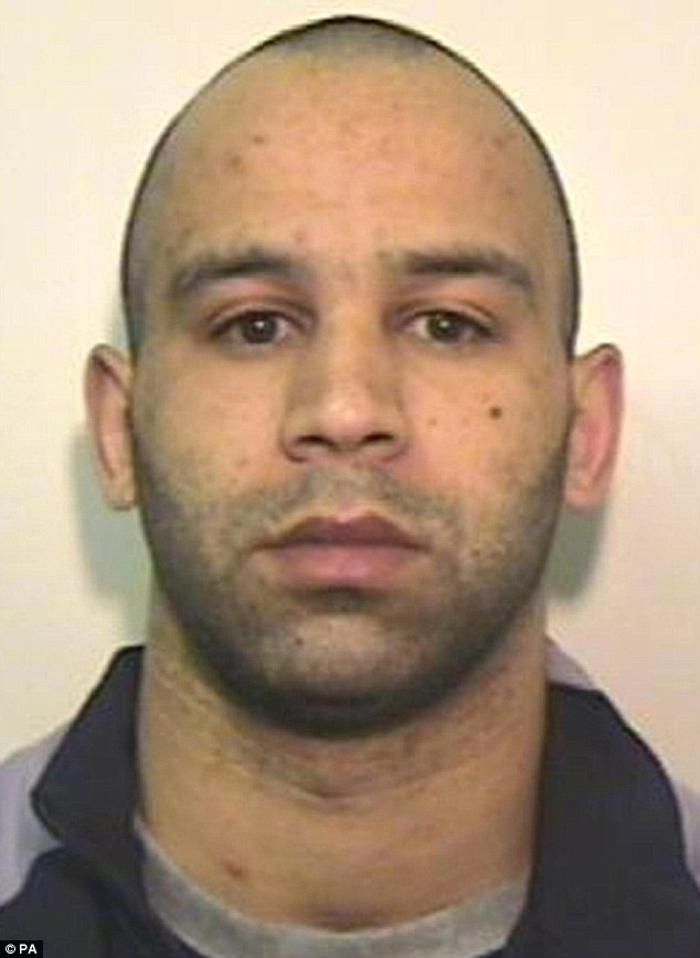 Murdered Lee Amos, who has reportedly converted to Muslim seven years into his 32-year minimum sentence