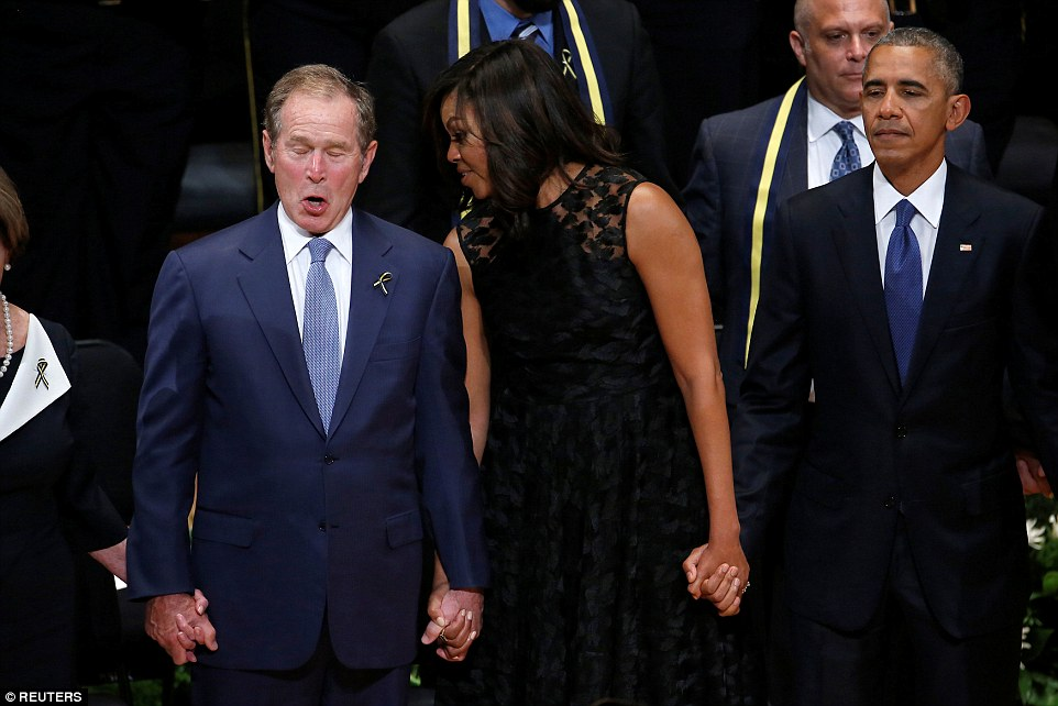 George Bush Mocked After He Started DANCING To Battle Hymn