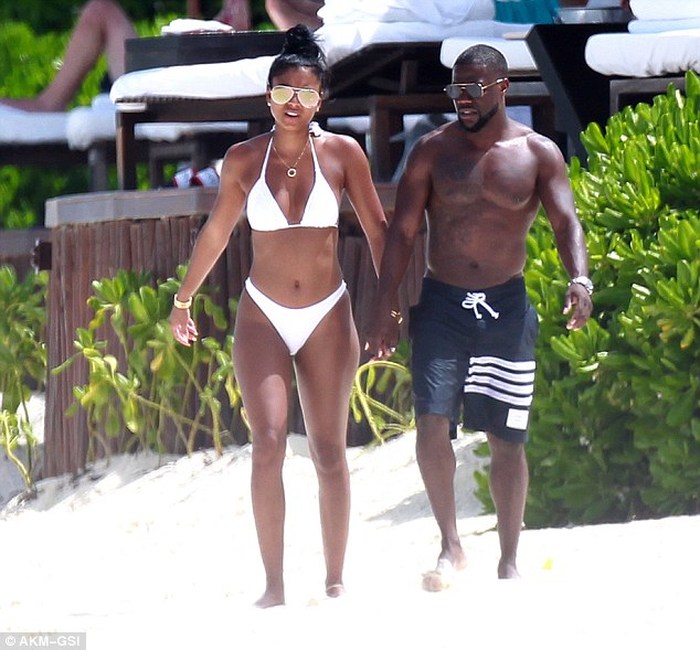 Engaged: The couple were celebrating Kevin's 37th birthday with a quick getaway