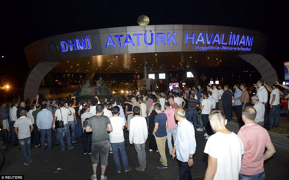 The security situation has got progressively worse during the evening with reports of the first deaths in Turkey's latest military coup