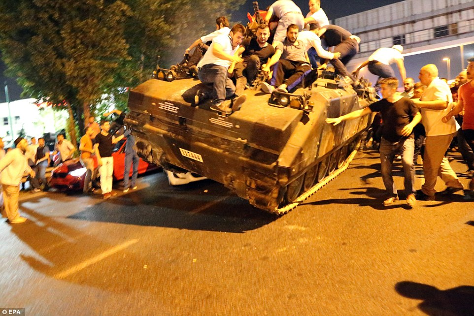 Commanders ordered their tanks to continue forward despite being blocked by civilians who parked their cars in the street