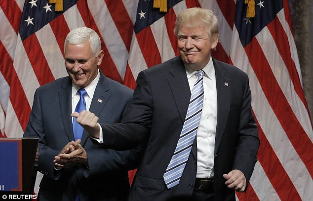 Trump insisted there was no doubt in his mind about picking Pence, who said the billionaire asked him to be his running mate 'on Wednesday'