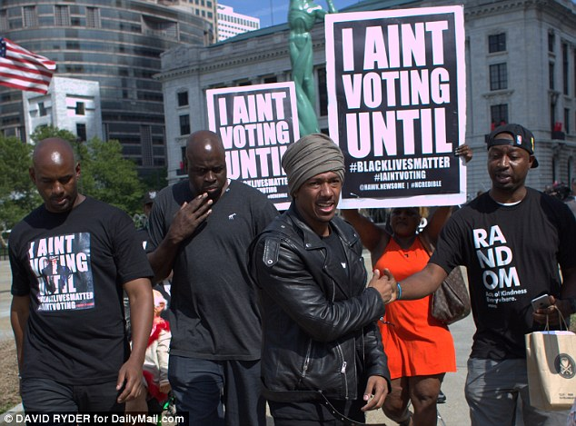 Plague on both your houses: Nick Cannon said he was offering a bipartisan message that both parties had taken black votes for granted