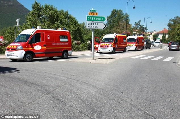 La familia fue atacada en Garda-Colombe cerca de Laragne-Monteglin en los Altos Alpes