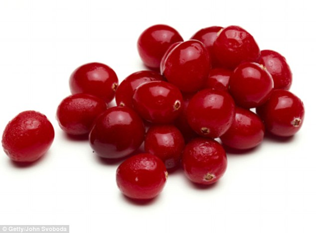 Compounds in cranberries, known as flavonols, prevent E.coli bacteria from triggering an infection, experts have discovered. They hope their findings will provide a new area of focus for drug developers