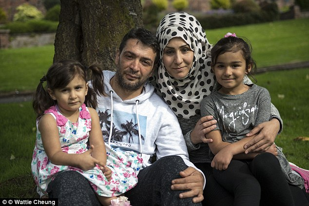 New life: Rasha, 35, who lives with her husband Abd, 42, who lives with his wife and their four children, said Scotland is beautiful but their island is 'full of old people' and described it as 'where people come to die'