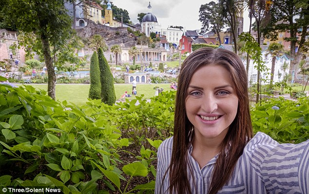 The tourist town of Portmerion in Wales (pictured) - not  a far cry from Italy's colourful Amalfi Coast