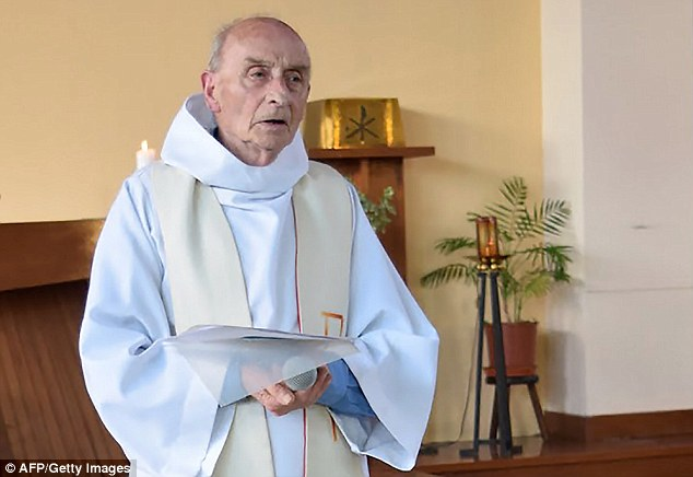 It is understood Father Hamel was only at the church conducting morning mass because he was covering for the regular priest who was on holiday