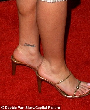 One-time Bond girl Denise Richards, 45, had 'Charlie' tattooed on her ankle in 2002, the year she married hellraising actor Charlie Sheen