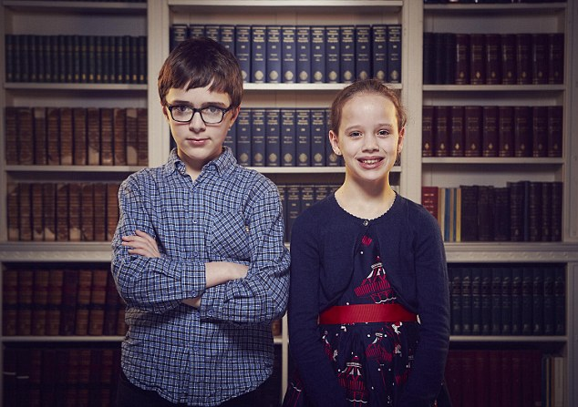 Stephen (left) attends a state secondary school in Birmingham and is passionate about quantum physics. Stephen's younger sister Georgia, 10, memorised the full line of English kings and queens, complete with their dates of births and deaths, when she was eight
