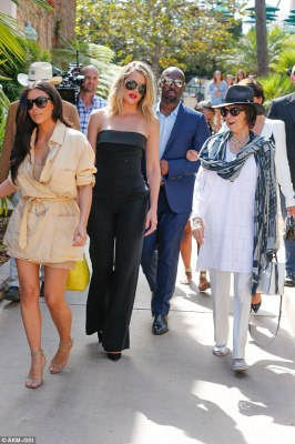 Keeping it real: The clan including Kris, 60, and beau Corey Gamble, 35, looked happy and relaxed as they spent some quality on-camera time together