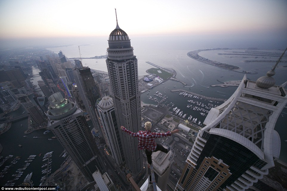 In the Red Bull release, Oleg talks about how he wants to feel what 'fear' feels like, and this photo taken in Dubai is just a taste of how he gets to that level