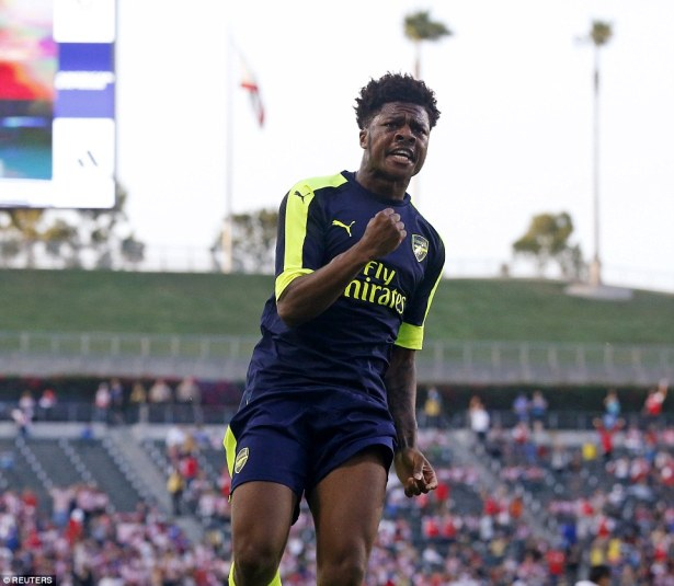 Chuba Akpom scored his second goals in two games after the young forward was set up by Mathieu Debuchy