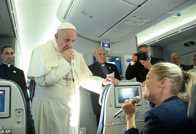 Warning: The Pope also warned that Europe was pushing its young into the hands of extremists
