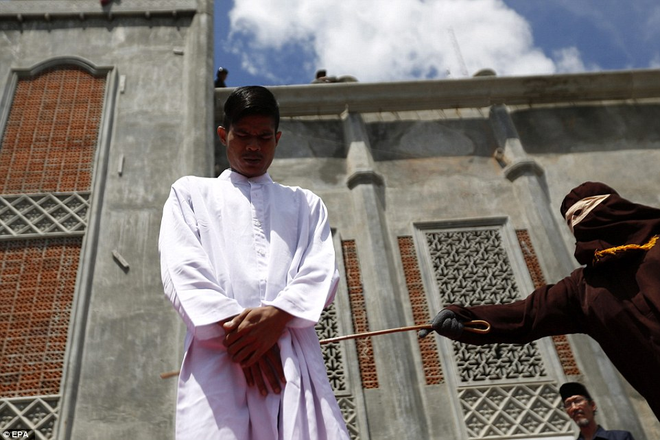 Gay sex, gambling and drinking alcohol are all punishable by caning in Aceh which began implementing Sharia law after being granted special autonomy in 2001, an effort by the central government in Jakarta to quell a long-running separatist insurgency