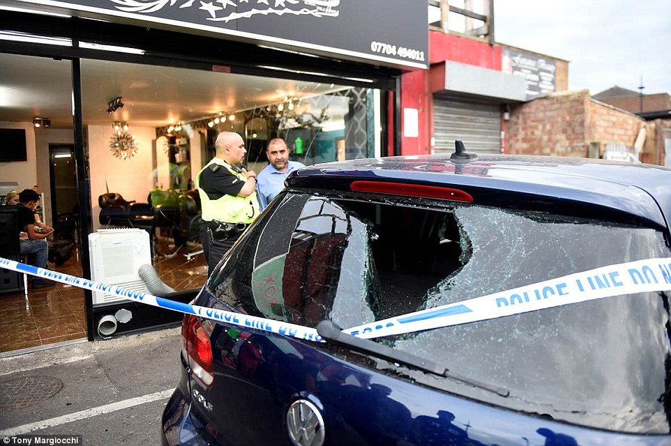 Mr Abbas-Khan said Sunday's attack comes after a long series of events that have left shop owners along Dunstable Road (pictured on Sunday) feeling helpless