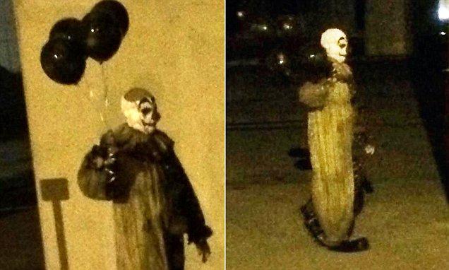 Wisconsin City Creepy Clown Carrying Black Balloons