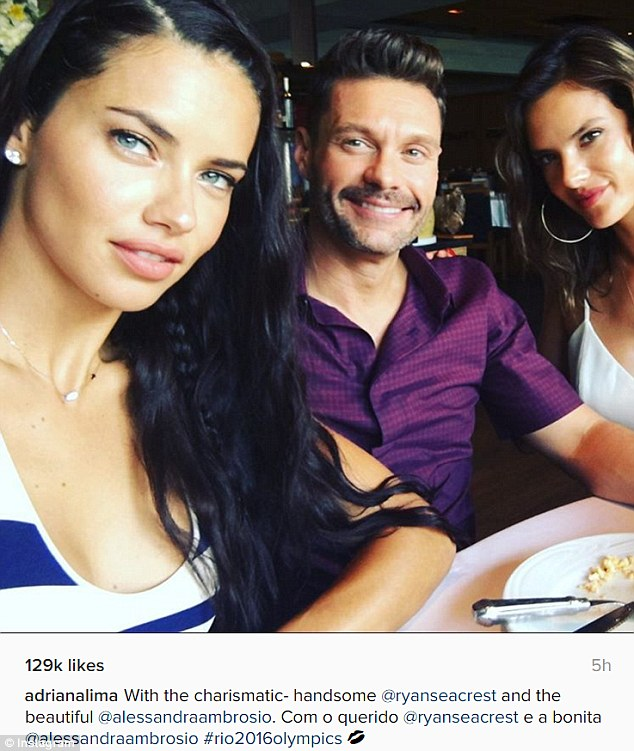 Image result for adriana lima and ryan seacrest