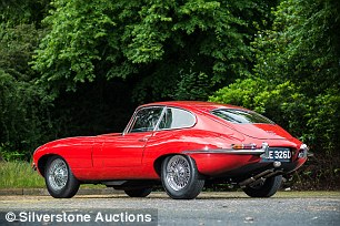 Early convertible Jaguar E-Types can cost £100,000. This 1965 coupe featured at the Silverstone Auctions event and achieved £48,380 - slightly less than the £50,000 estimate