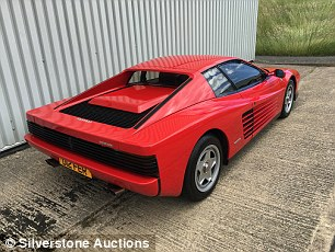 This 1987 left-hand drive Ferrari Testarossa with the private plate 'D12 FER' didn't reach the lower estimate of £85,000. It's now for sale for £99,110