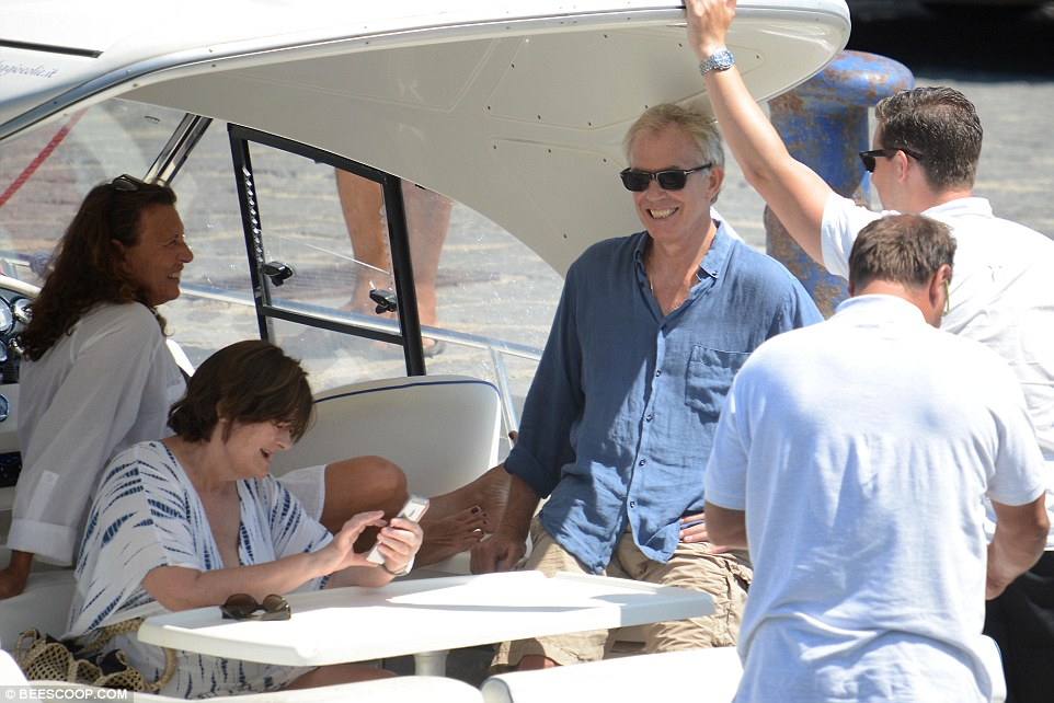 Tony Blair has been spotted relaxing on a yacht off Sicily weeks after a tearful press conference to reveal his 'sorrow' at the aftermath of the Iraq War