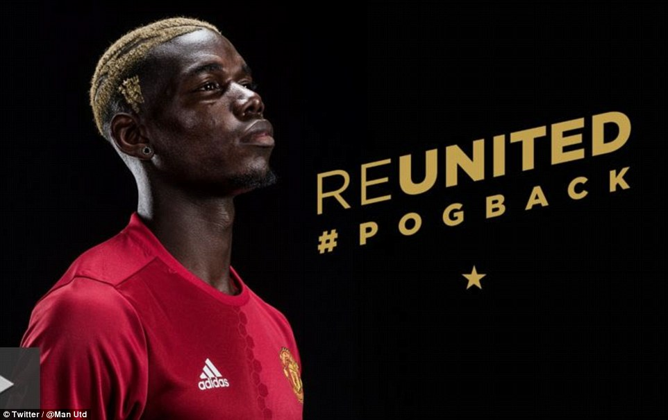 The French star is known for his eccentric hairstyles and has this time shaved part of the United club badge into his hair