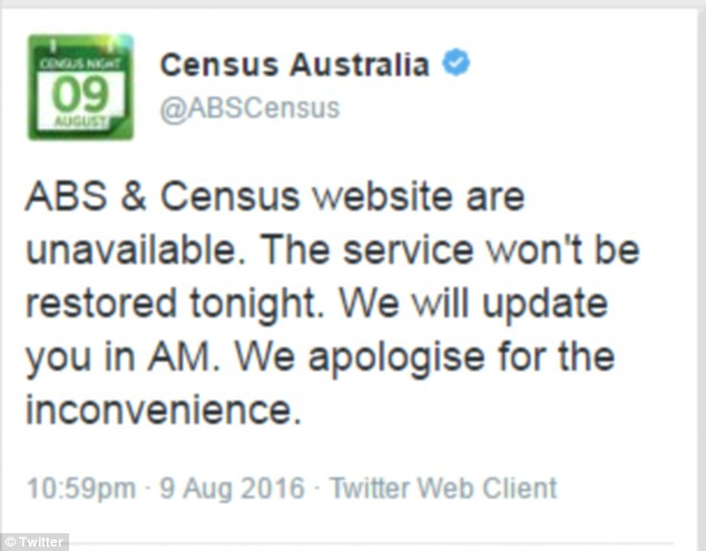 ABS previously said the outage was due to the high volume of users accessing the site, but confirmed on Wednesday the site had been hacked