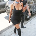 KIm Kardashian Steps Out In A Very Sexy LBD