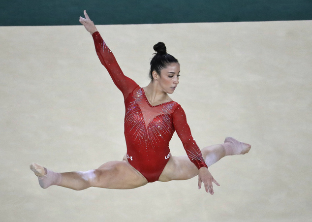 By the 2016 Olympics in Rio, stars like Aly Raisman (pictured) were dazzling in crystals