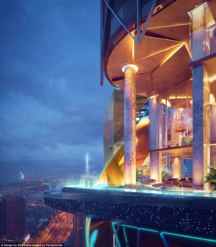 One of the hotel's most thrilling spots will be its infinity pool, which extends over the edge of the building